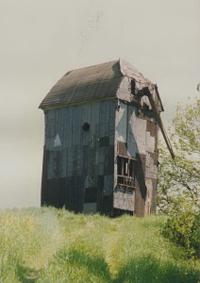 Bild alte Bockwindmühle