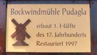 Tafel der Bockwindmühle